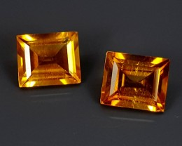 1.45Crt Madeira Citrine Pair  Best Grade Gemstones JI115