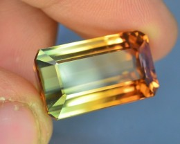 Certified 19.49 ct AAA Grade Bi Color Tourmaline Great Hue and Luster