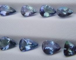 8.15 Carats (8 Pieces) Tanzanite Gemstone Parcel