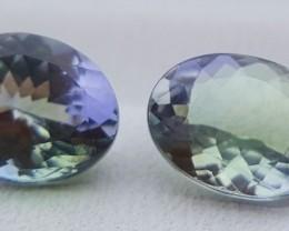 2.60 Carats (2 Pieces) Tanzanite Gemstone