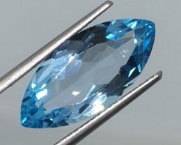 7.37 Carat VVS Topaz Swiss Blue Marquise - Brazilian Beauty !