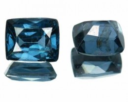 1.59 Cts Natural Cobalt Blue Spinel 2 Pcs Cushion Cut Sri Lanka