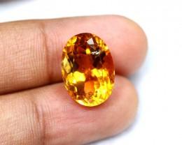 Lot 06 ~ 11.01Ct Natural VVS Clarity Golden Yellow Citrine