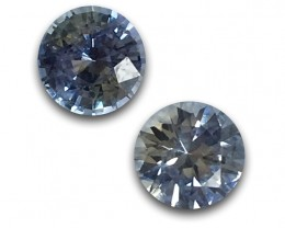 1.09/1.06 Carats | Natural Light Blue Sapphire|Loose Gemstone|New| Sri Lank