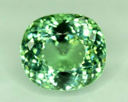 Gil Certified 9.29 Carats Cushion Cut Natural Blue Green Color Pariaba Tour
