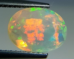1.81ct Fantastic Oval Cut Untreated Natural Ethiopian Fire Opal