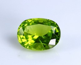 2.85 cts Unheated & Superb Green Color Peridot Faceted Cut Stone