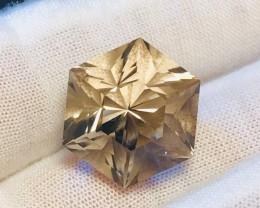25 Carat Master Cut Smoky Quartz Fancy Hexagon