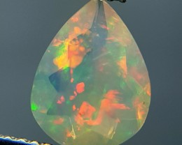 1.13 ct Awesome Pear Cut Untreated Natural Ethiopian Fire Opal