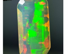 1.11 ct Stunning Rectangle Cut Untreated Natural Ethiopian Fire Opal