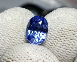 CERTIFIED 2.04 CTS NATURAL BEAUTIFUL BLUE SAPPHIRE CEYLON SRI LANKA