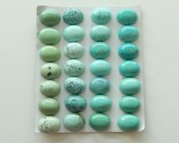 99.5cts Unique natural turquoise cabochon beads semi-gem (A163)