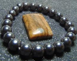 Hematite beads Stone Bracelet 8 mm