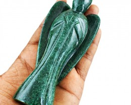 Genuine 1055.00 Cts Green Jade Reiki Healing Angel