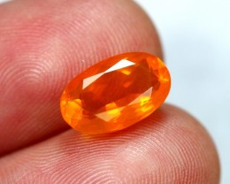 Lot 06 ~ 2.43Ct Natural Untreated Mexican Orange Fire Opal
