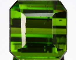 1.97 Cts Natural Green Tourmaline Octagon  Mozambique