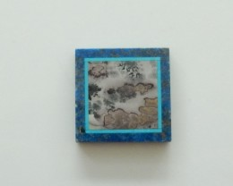 35cts Unique lapis lazuli ,chohua jasper intarsia cabochon (A182)