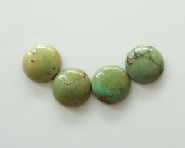 30cts Unique natural turquoise round cabochon beads semi-gem (A184)