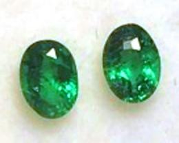 Lustre ! Beautiful Rich Green Emerald Pair G198