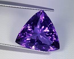 "9.40 ct ""Breathtaking Gem"" Stunning Triangle Cut Natural Amethyst"