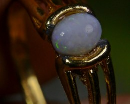 15.35 CT UNTREATED Indonesian Milky Opal Ring Jewelry