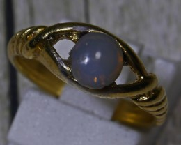 15.20 CT UNTREATED Indonesian Crystal Opal Ring Jewelry