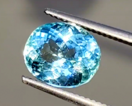 PERFECT! 4.20 CT Unheated NEON Blue Tourmaline $12,800