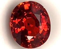 2.71ct Certified Orange Spessartite Garnet - Stunning VVS Jewel
