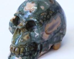 0.222Kilo Jasper  hand carved Skull  WS 517