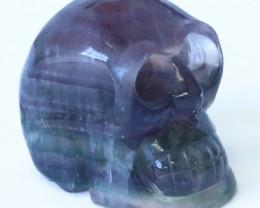 0.430Kilo Flourite hand carved Skull  WS 520