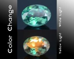 Gil Certified Brazillian Alexandrite 0.49 ct Amazing Color Change SKU.2