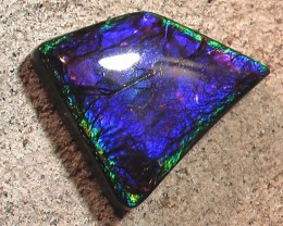 NICE PURPLES Natural Ammolite Gemstone Framed Pattern 22.60ct
