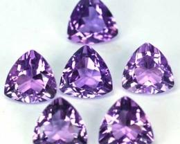 ~PARCEL~ 10.50 Cts Natural Purple Amethyst 8 mm Trillion 6 Pcs Bolivia