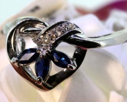 11.35-CTS SAPPHIRE RING BLUE AND WHITE   SG-2765
