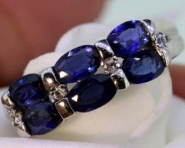 13.80-CTS SAPPHIRE RING BLUE AND WHITE   SG-2768