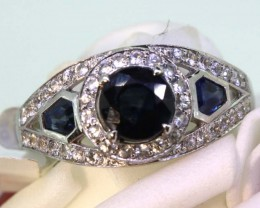 13.10-CTS SAPPHIRE RING BLUE AND WHITE   SG-2771