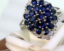 20.50-CTS SAPPHIRE RING BLUE AND WHITE   SG-2774