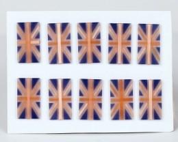 Intarsia cymophane gemstone rectangle shape cabochons for designer