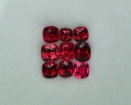 2.31 Cts Stunning Attractive Burmese Vivid Red Spinel Lot