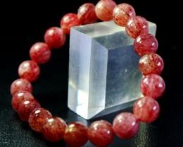 150.40 CT Natural Cherry Quartz Bracelets Carved Beads Stone Special Shape
