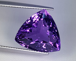 """14.84ct """"Exclusive Gem"""" Amazing Triangle Cut Natural Amethyst"""