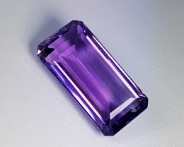 """10.11 ct """"Top Quality Gem"""" Awesome Emerald Cut Natural Amethyst"""
