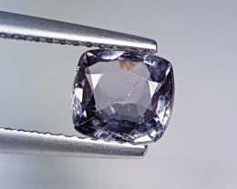 1.23ct Amazing Cushion Cut Untreated Awesome Natural Gray Spinel