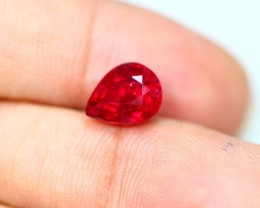3.20Ct Ruby Mozambique Composite Pear Cut Lot A422