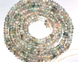 26.65 Cts Natural Bi-Color Tourmaline Beads 40 cm - 3.0 x 2.7 mm