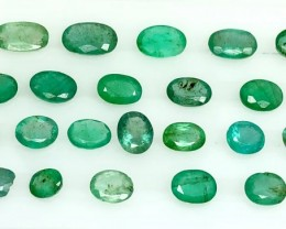 22.0 Crt Emerald Parcels Faceted Gemstone Lot 8