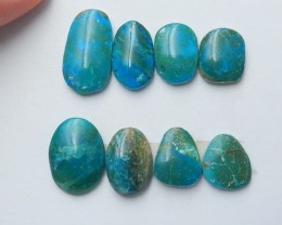 60.5cts Unique blue opal  cabochon beads natural gemstone(A209)