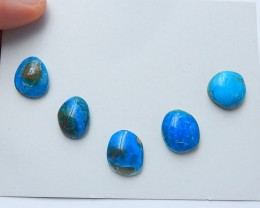 49cts Fashion blue opal cabochon beads natural gemstone (A213)
