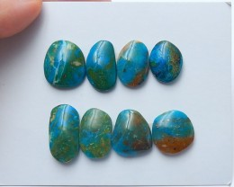 90cts Unique natural blue opal cabochon beads semi-gem (A208)