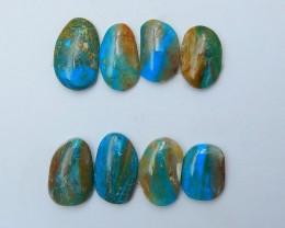 59.5cts beautiful blue opal cabochon natural beads semi-gem (A190)